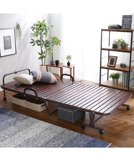 【荷造送料0円実施中】折りたたみ桐すのこベッド すのこベッド...