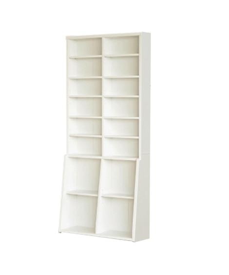 高さがあるボックスも収納できる壁面収納本棚 書棚・本棚・ブッ...