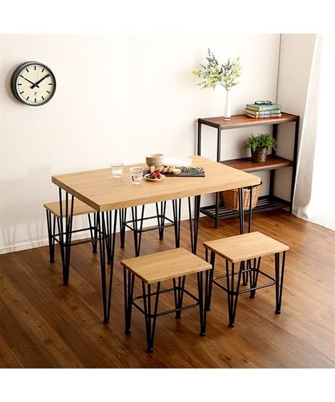 【お買い得】ヴィンテージ風ダイニング3点セット ダイニングテーブルセット, Tables(ニッセン、nissen)
