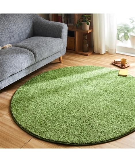 芝生みたい!ふわふわさらさらでふっくらな円形シャギーラグ ラグ, Rugs(ニッセン、nissen)