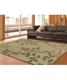 コンパクト収納リーフ柄い草ラグ 畳・い草・天然素材の商品画像