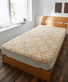 保温わた入りマイクロフリースオーナメント柄敷パッド 敷きパッド・ベッドパッドの商品画像