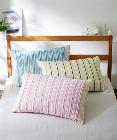 お買い得!綿100%(パイル)タオル地のびのび枕カバー3色組...