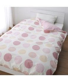日本製綿100%選べる柄掛けカバー(リーフ。ドット。フラワー) 掛け布団カバーの小イメージ