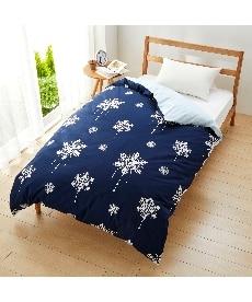 【日本製】綿100%プリント掛け布団カバー(スノークリスタル柄) 掛け布団カバーの商品画像