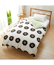 【日本製】綿100%プリント掛け布団カバー(北欧風フラワー柄) 掛け布団カバーの商品画像