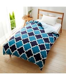 【日本製】綿100%プリント掛け布団カバー(モロッカン柄) 掛け布団カバーの商品画像