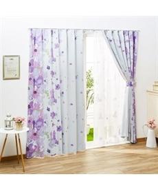 <ニッセン>ラプンツェル柄遮光カーテン&レース4枚セット カーテン&レースセット Curtains sheer curtains net curtains(ニッセン、nissen) 1
