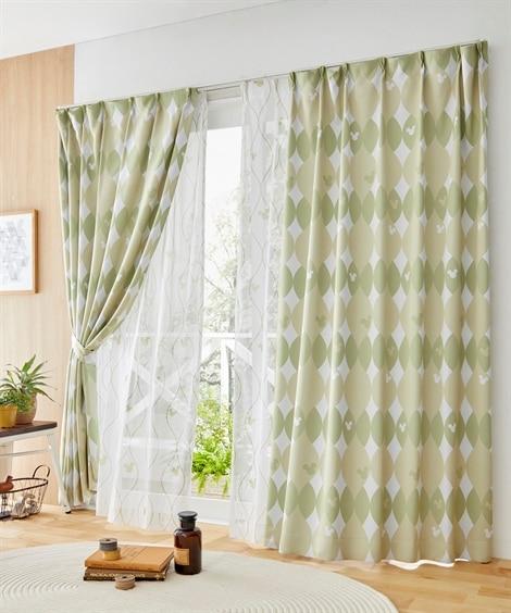 <ニッセン>【ディズニー】 遮光カーテン&レース4枚セット(ミッキー) カーテン&レースセット Curtains sheer curtains net curtains(ニッセン、nissen)