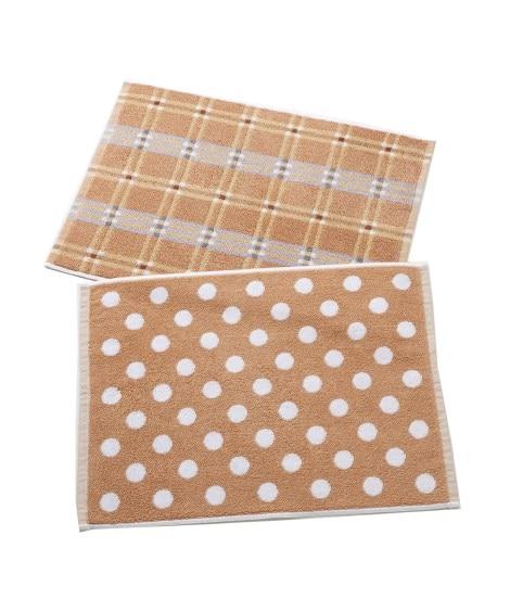 洗い替えに便利!タオル地バスマット2枚組 バスマット