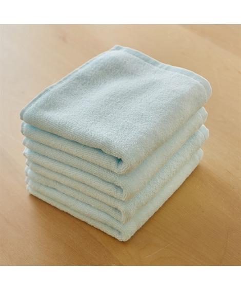【お買い得】ふわっふわの無撚糸フェイスタオル同色4枚組 フェ...