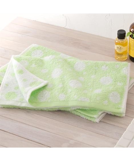 やさしい色合いのドット柄フェイスタオル同色2枚セット フェイスタオル, Towels(ニッセン、nissen)