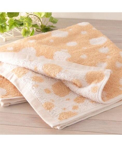 やさしい色合いのドット柄バスタオル バスタオル, Towels(ニッセン、nissen)