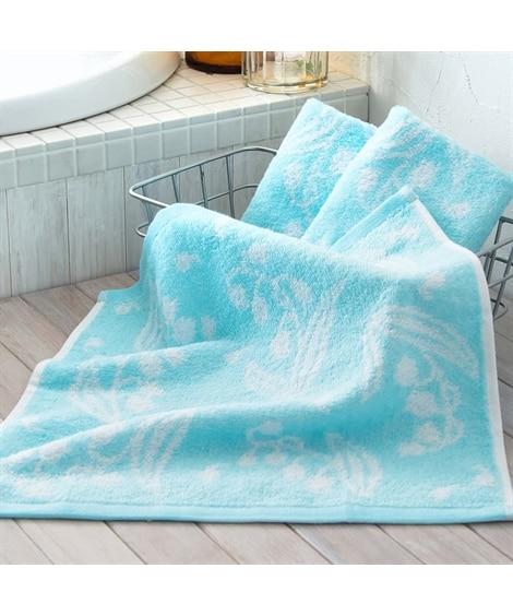 優しい色のフラワー柄ハンドタオル(34×35)同色3枚セット...