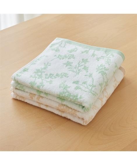 優しい色合いの綿100%ミニバスタオル2枚セット 100cm丈 バスタオル, Towels(ニッセン、nissen)