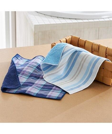 片面ガーゼ かさばらないタオルハンカチ(24×25) 2枚セット【日本製】 ハンドタオル・タオルハンカチ, Towels(ニッセン、nissen)