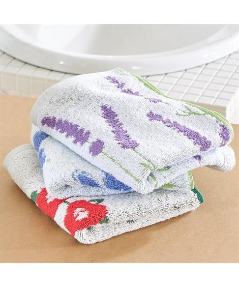 花のある暮らし フェイスタオル3枚セット フェイスタオル, Towels(ニッセン、nissen)