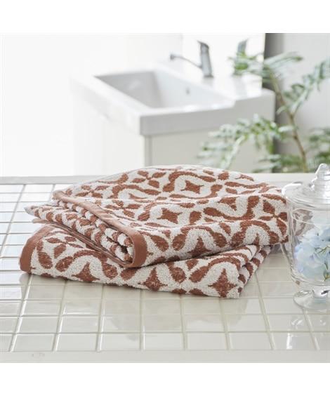 先染めジャカード織デザインバスタオル同色2枚セット バスタオル, Towels(ニッセン、nissen)