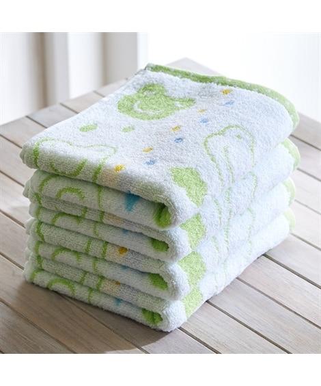 ふわふわな肌触りのアニマル柄フェイスタオル 同色4枚セット フェイスタオル, Towels(ニッセン、nissen)