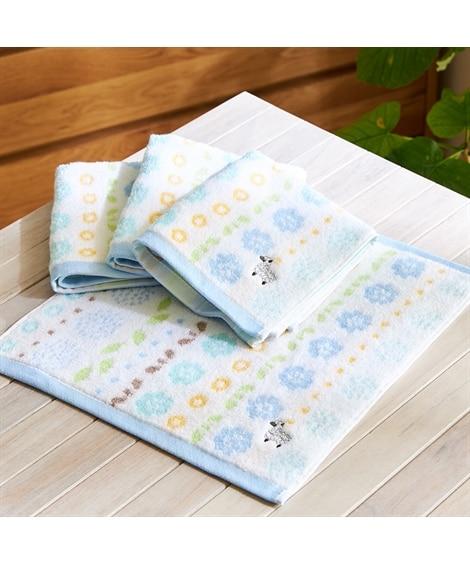 プチフラワー柄ハンドタオル 同色4枚セット ハンドタオル・タオルハンカチ, Towels(ニッセン、nissen)