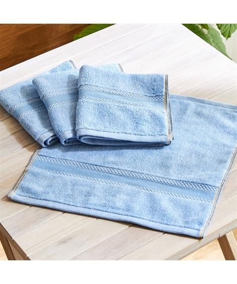 ディティールまでまるでデニム!なハンドタオル 同色4枚セット ハンドタオル・タオルハンカチ, Towels(ニッセン、nissen)