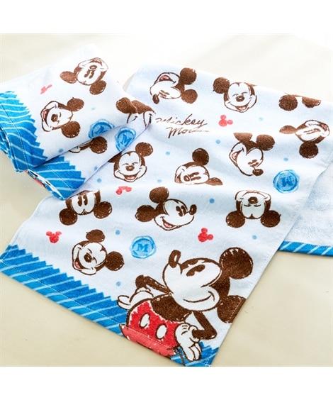 ディズニー レトロなデザインのフェイスタオル同柄3枚セット(ミッキーマウス) フェイスタオル, Towels(ニッセン、nissen)