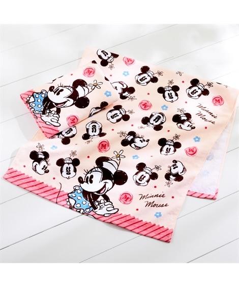 ディズニー レトロなデザインのバスタオル同柄2枚セット(ミニーマウス) バスタオル, Towels(ニッセン、nissen)