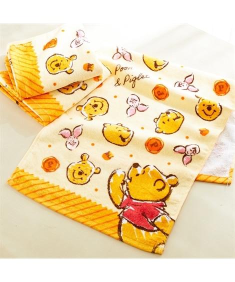 ディズニー レトロなデザインのフェイスタオル同柄3枚セット(プーさん) フェイスタオル, Towels(ニッセン、nissen)