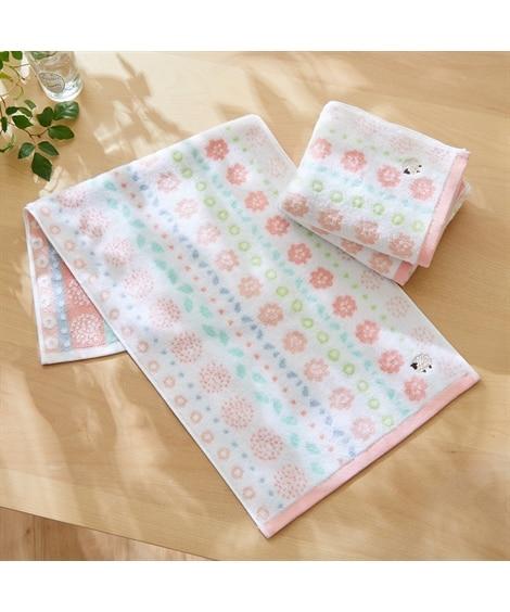 プチフラワー柄フェイスタオル 同色3枚セット フェイスタオル, Towels(ニッセン、nissen)