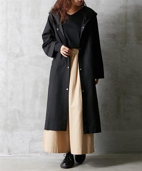 ロングフーデットコート (コート)(レディース)Coat