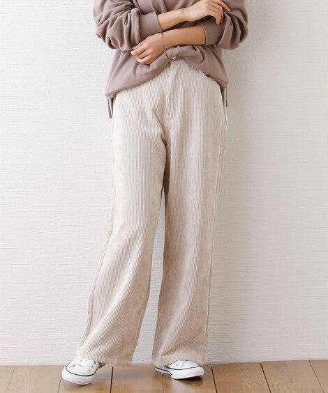 コーデュロイロングパンツ (レディースパンツ)Pants, ...