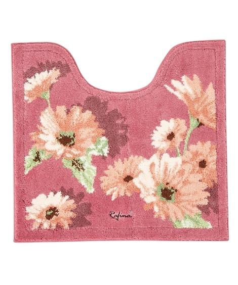 上品で繊細な花柄が美しいトイレタリーシリーズ(トイレマット)...