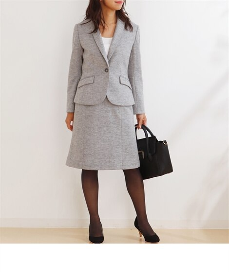 <ニッセン> 裾レースツイード調フレアスカート (ひざ丈スカート) 27