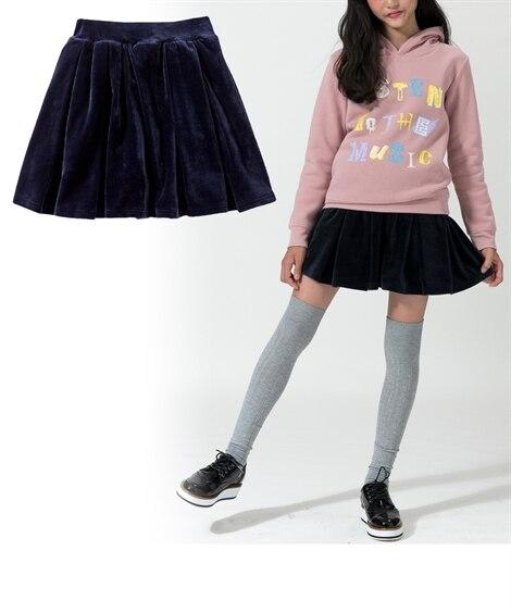 あったかベロアパンツインスカート(女の子 子供服。ジュニア服...