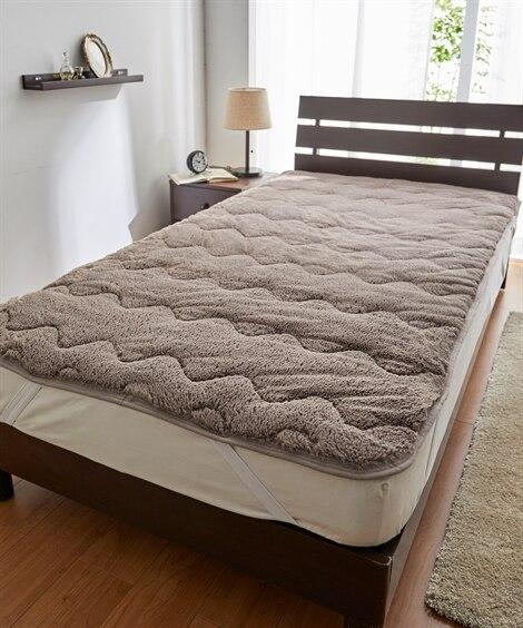 ラビット調ファー敷きパッド 敷きパッド・ベッドパッド