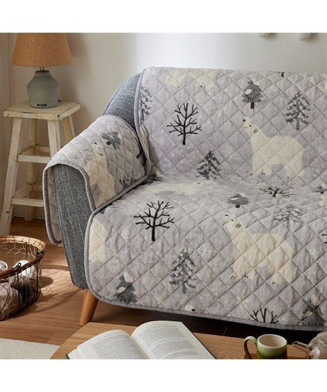洗える!あったか吸湿発熱しろくまソファーカバー ソファーカバー, Sofa covers(ニッセン、nissen)