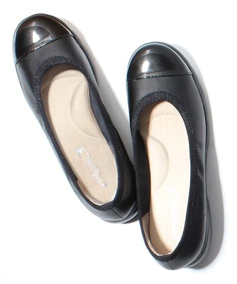 ラックラック空飛ぶパンプス エナメルバイカラー コンフォートシューズ, Shoes