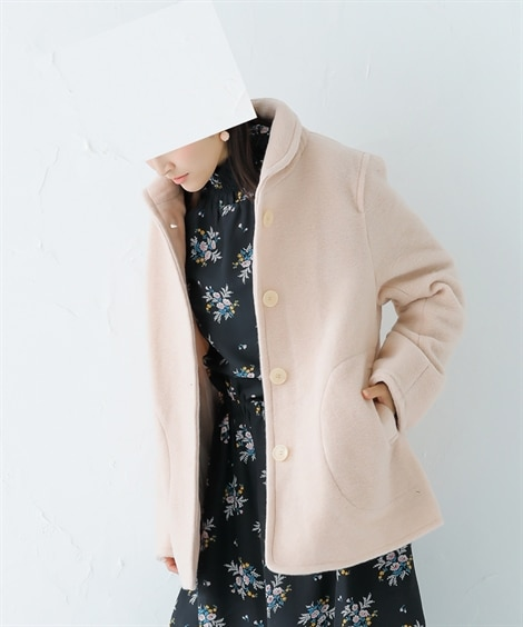 ウール混小衿ジャケット (ジャケット・ブルゾン)
