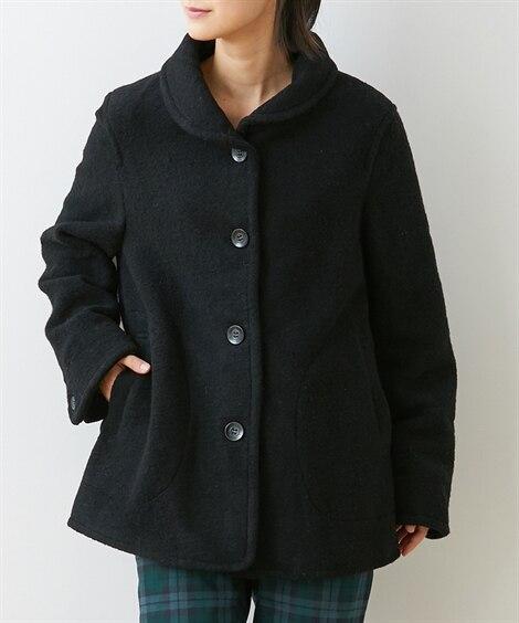 ウール混小衿ジャケット (ジャケット・ブルゾン)(レディース...