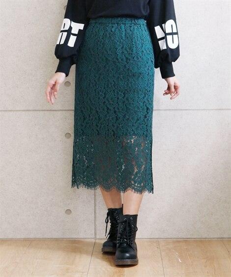 ローズファンファン レースセミタイトスカート 【大きいサイズ...