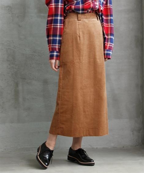 ローズファンファン コーデュロイロングタイトスカート (大き...