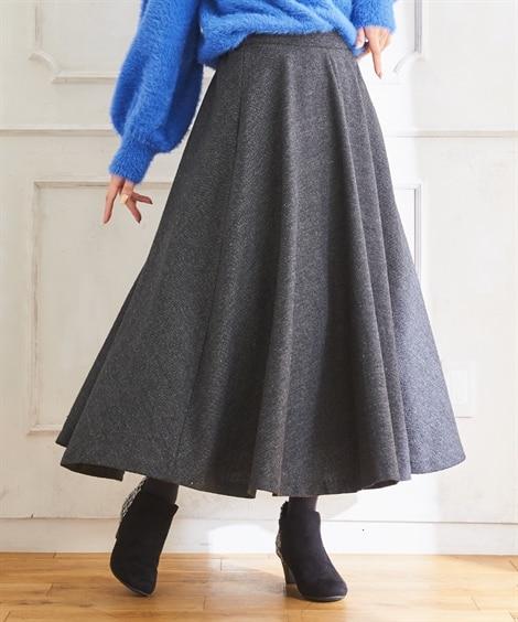 スタクロ ツィードフレアスカート (大きいサイズレディース)...