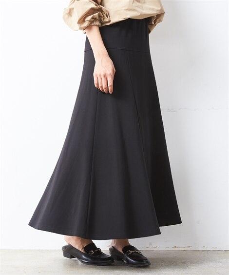 【大きいサイズ】 シックスタイル カットソーフレアスカート ...