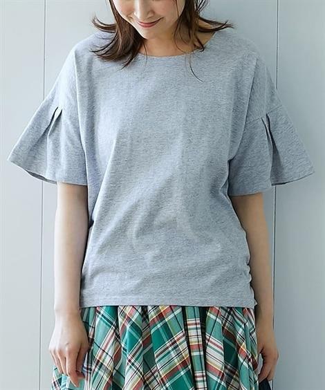 汗ジミ防止袖フレアTシャツ (Tシャツ・カットソー)(レディ...