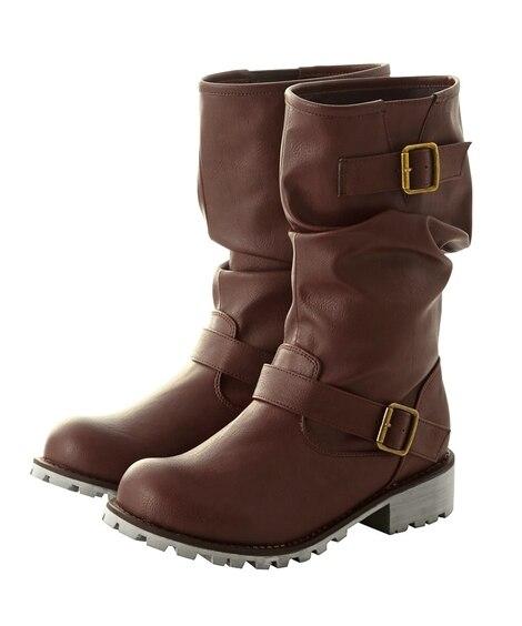 エンジニアミドルブーツ(低反発中敷)(選べる履き口) ブーツ...