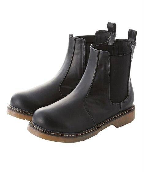 サイドゴアショートブーツ(低反発中敷)(ワイズ4E) ブーツ...
