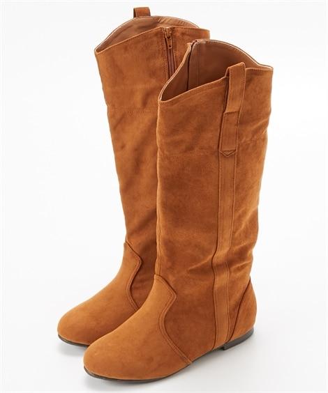 Vカットロングブーツ(低反発中敷)(選べる履き口) ブーツ・...