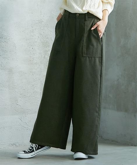 ウール混ベイカーパンツ (レディースパンツ)Pants, ?...