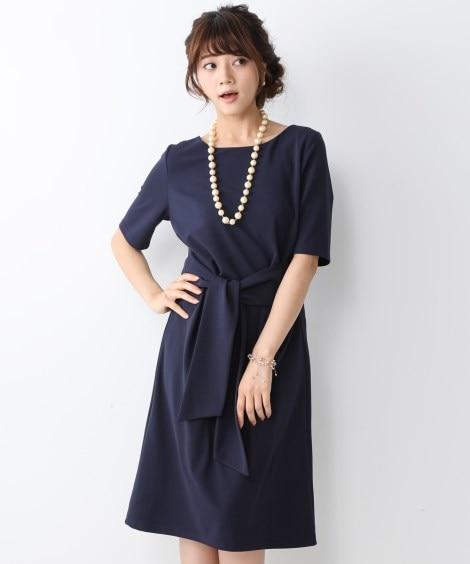 【ジャージーシリーズ】ウエストリボンカットソーワンピース ひ...