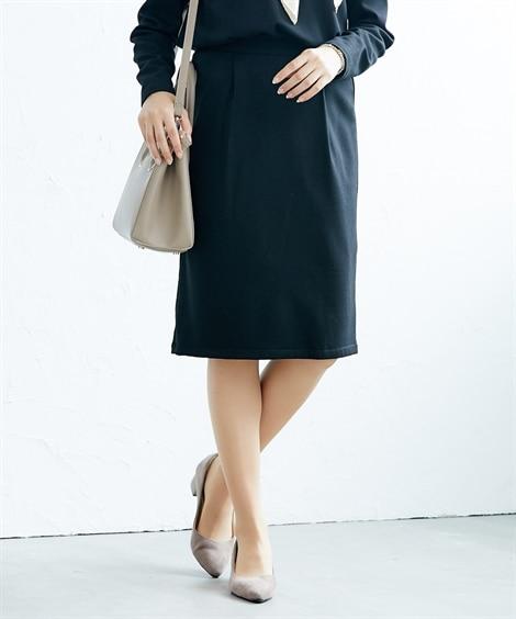 タックタイトスカート(セットアップ対応) (ひざ丈スカート)